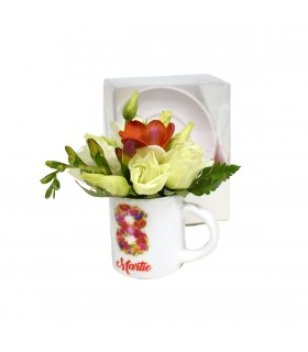 Women's Day Coffee Cup with Flowers