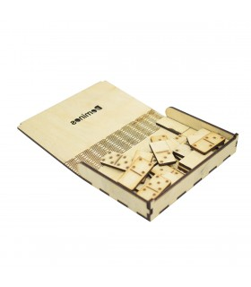 Wooden Domino Game Set