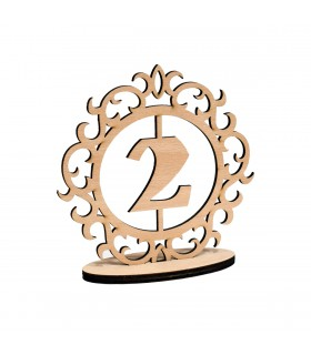 Wooden Numbers for the Festive Table