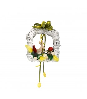 Square Easter Wreath