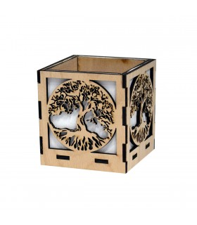 """""""Tree of Life"""" Wooden Plant Holder"""