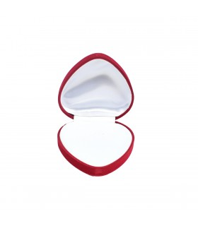 Round Red Heart-Shaped Box
