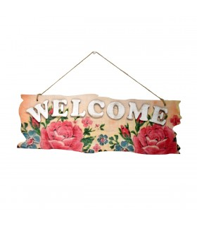 Decoratie de Perete din Lemn - Welcome