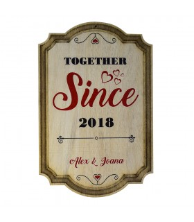Decoratie de Perete din Lemn - Together