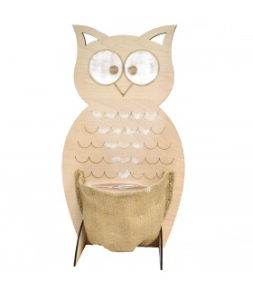 Small Wooden Owl with Pocket