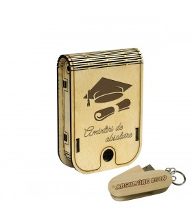 Stick in Wooden Graduation Gift Box