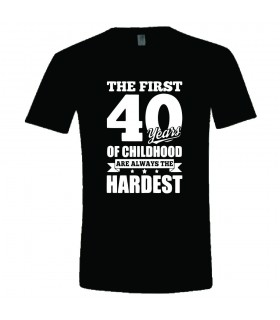 "Tricou Personalizat ""The First 40"""