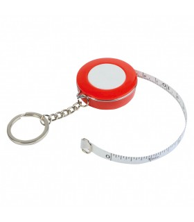 Plastic Keychain with Measuring Tape