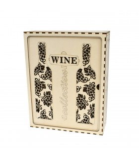 Wooden Box for 3 Wines