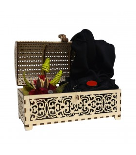 Gift Package in Chest with Heart Lock