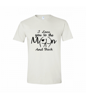 "Tricou Personalizat ""Moon And Back"""