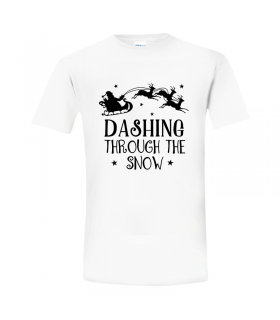 Tricou Dashing Through the Snow