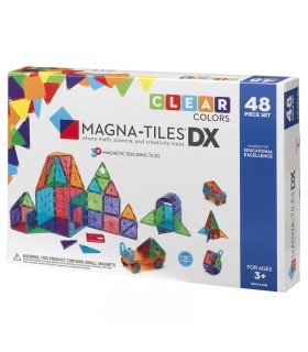 Set Jucarie Magna-Tiles Clear Colors 48 Piese