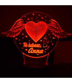 """""""I Love You"""" 3D Lamp with Name"""