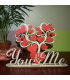 """Valentine's Table Ornament """"You and Me"""""""