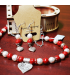 White and Red Jewelry Set