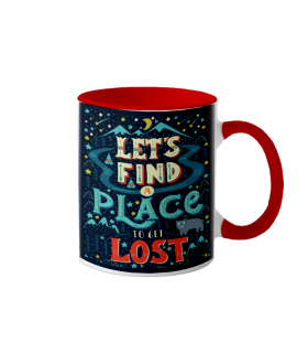 "Cana interior rosu  ""Lets find a place"""