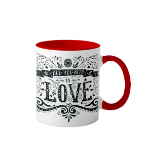 """Cana interior rosu  """"All you need is love"""""""