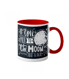 "Cana interior rosu  ""Love you to the moon"""