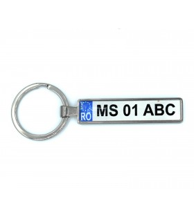 License Plate Number Keychain