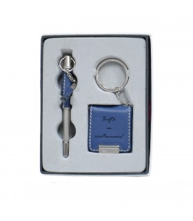 Pen and Photo Frame Keychain Set